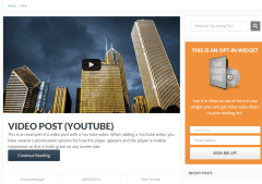 Blog page of FocusBlog theme