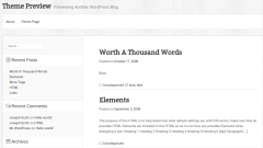Boxed WP Theme Preview Page