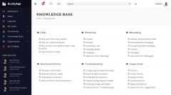 BuddyApp Knowledge Base Page