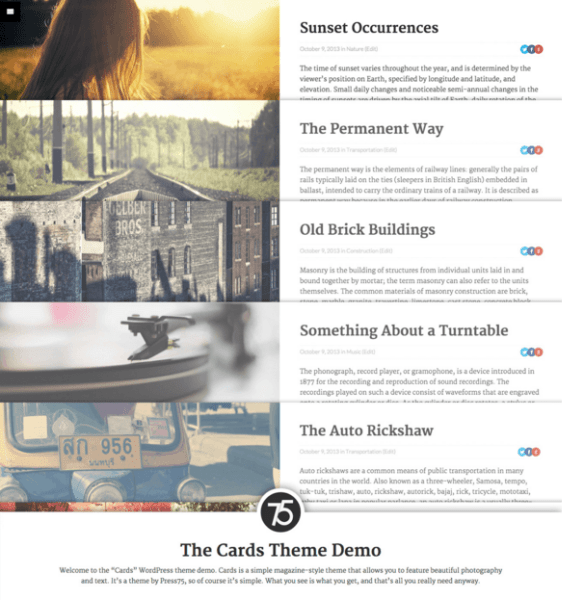 Cards – WordPress Magazine theme
