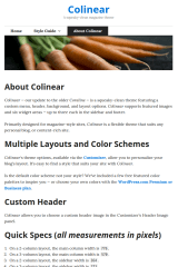 Colinear-wordpress-theme-about page