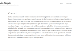 Contact page of So simple theme