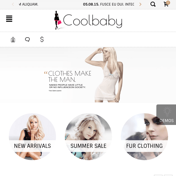 Coolbaby – Original WooCommerce theme