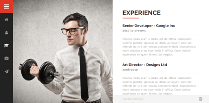 Divergent-WordPress-theme-Resume
