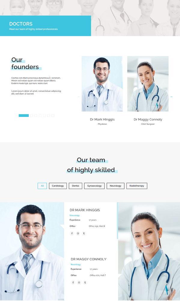 Doctores Page of Medical