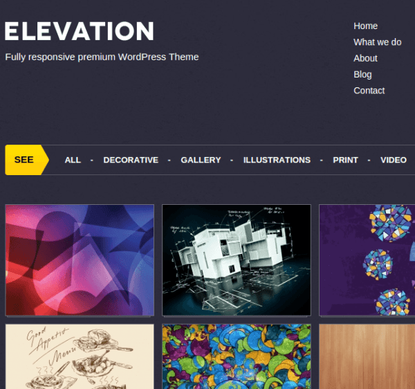 Elevation homepage