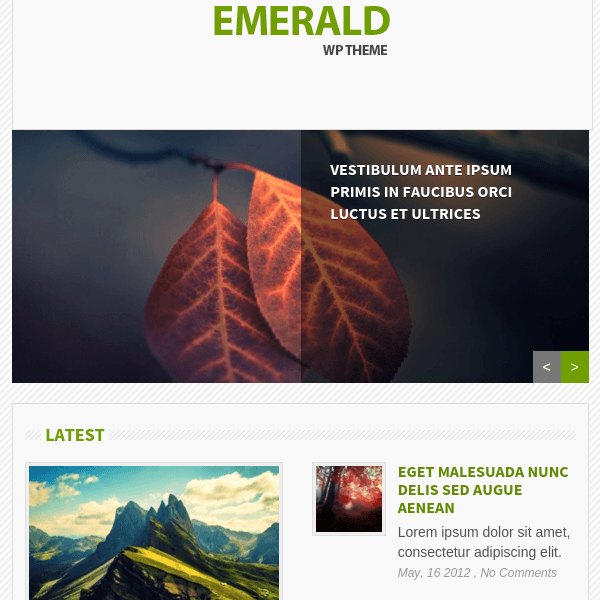Emerald Bright & Refreshing Magazine WordPress Theme
