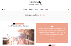 Fashionly Trends Page