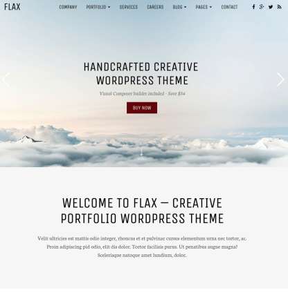 Flax-WordPress-theme-Home