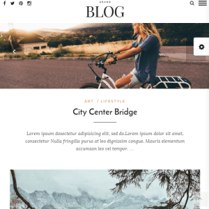 Grand Blog- A responsive Blogging theme