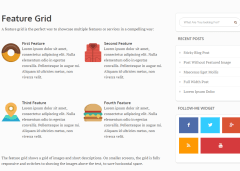 Grid feature shortcode for Luxe theme