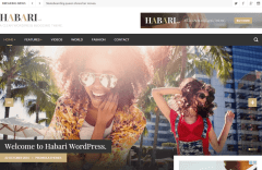 Habari- Front page featured with slider