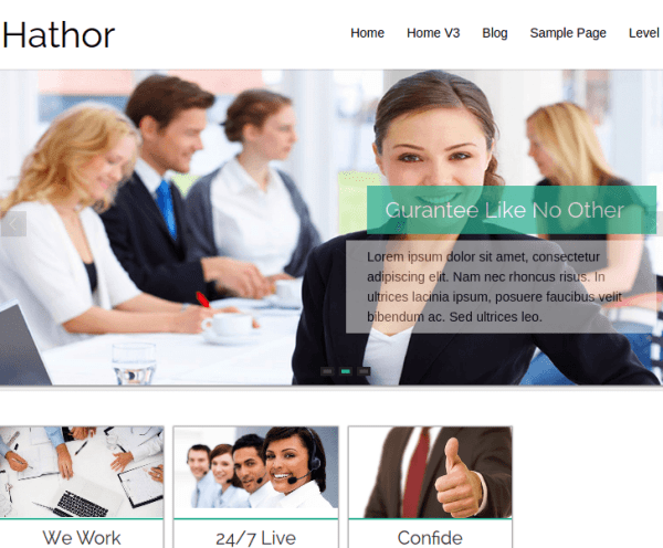 Hathor WordPress Theme