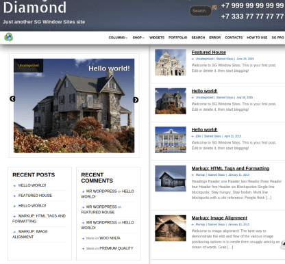 Homepage of SG Diamond