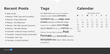 Icon WP- It has wide footer