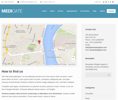 Medicate-WordPress-theme-Contact