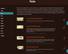 Menu List of Linguini