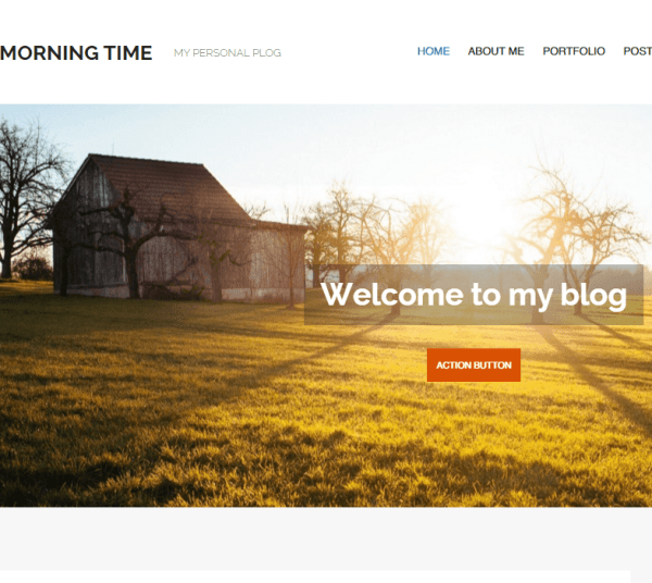 MorningTime lite- A WordPress theme for Blogging