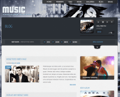 Music Blog Page