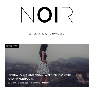 Noir - Responsive WordPress Blog & Shop Theme
