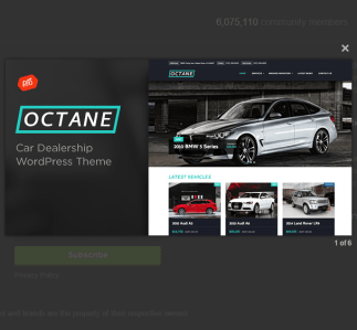 Octane - Car Dealership WordPress theme