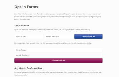 Opt in forms shortcode for Ignition theme