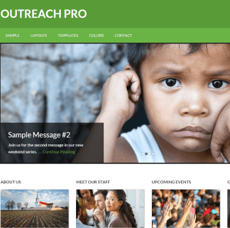 Outreach Pro- A WordPress theme for Church