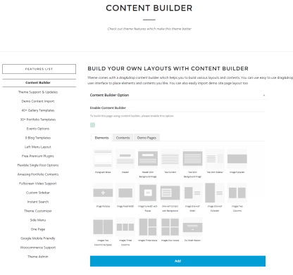 Photography- Content builder layouts