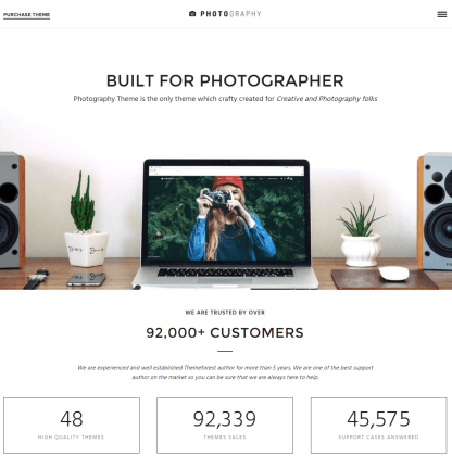 Photography- Front page of this theme