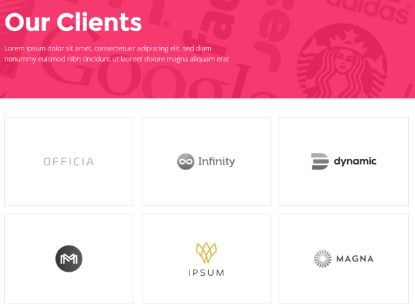 Pitch- Clients page
