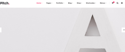Pitch- Front page of Ecoomerce site built with Pitch theme