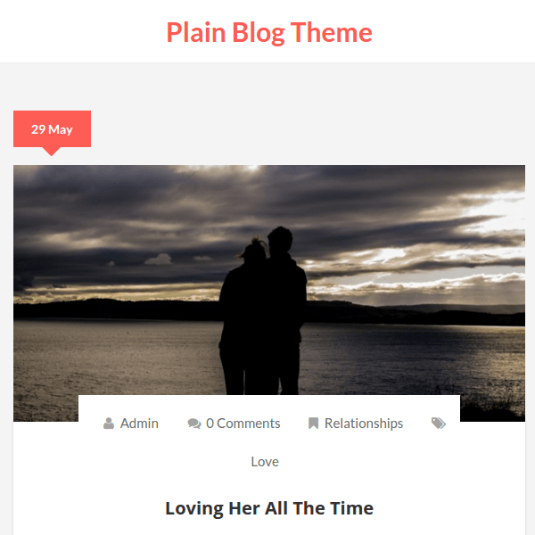 Plain Blog WordPress Theme
