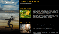 Portfolio Gallery About Page