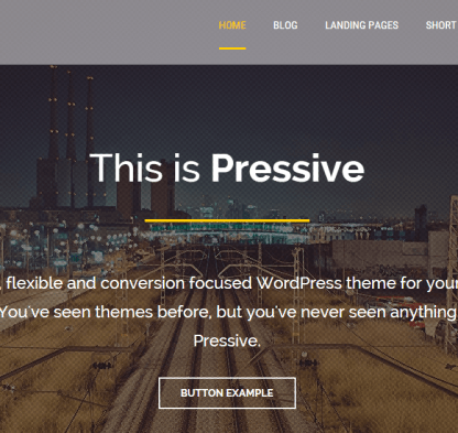 Pressive- A WordPress theme for corporate and blog sites