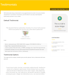 Pressive- Testimonials built with shortcodes
