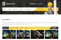 Projects Page of Constructzine theme