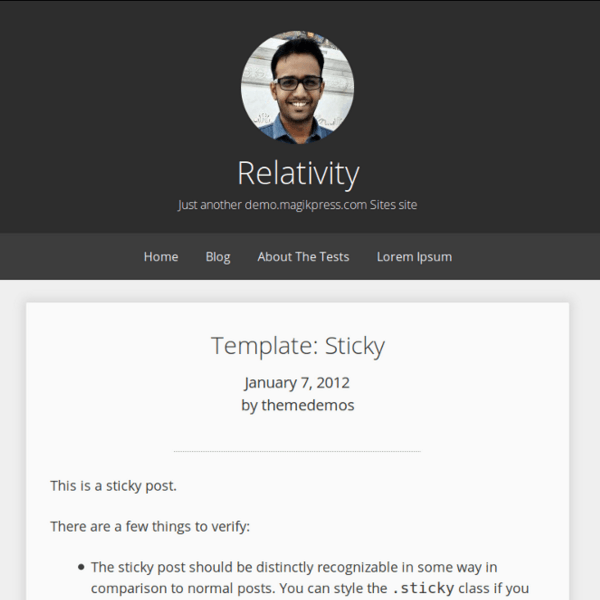 Relativity WordPress Theme