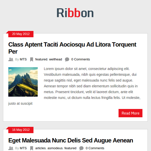 Ribbon Free Responsive WordPress Magazine Theme