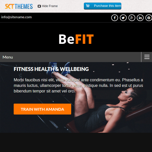 SKT BeFit WordPress Theme