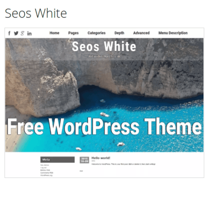 Seos White WordPress Theme