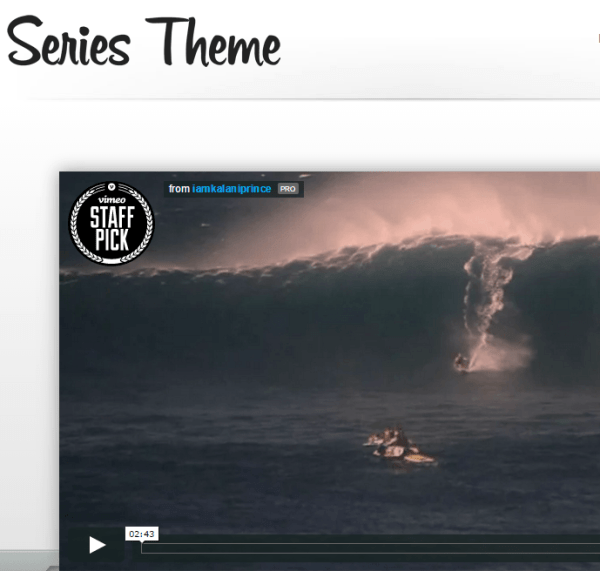 Series – WordPress theme used for delivering video series or for creating portfolios