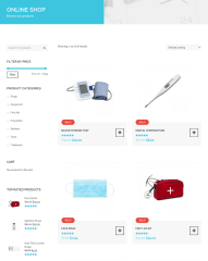 Shop Page on Medical