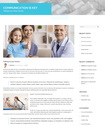 Single Page on Medical