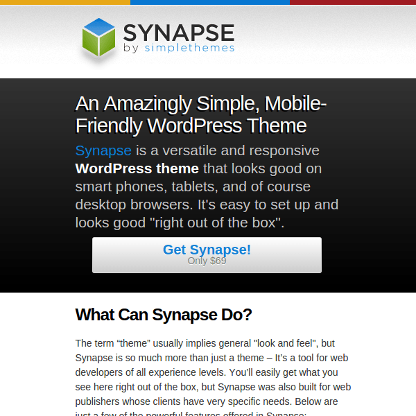 Synapse WordPress Theme