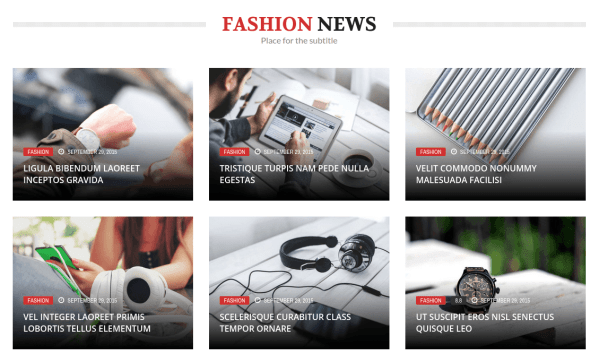 The REX Fashion News Section