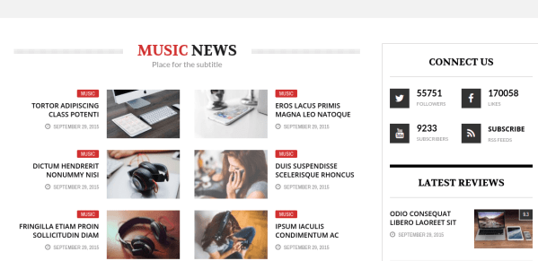 The REX Music News Section