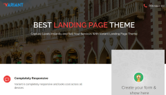 Variant Landing Page Home Page