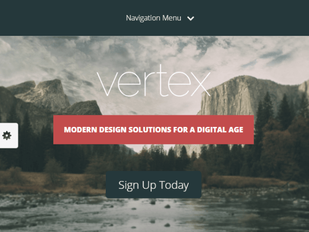 Vertex- WordPress theme for Landing page