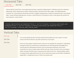 Voice – Shortcodes for creating tabs