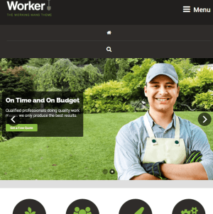 Worker- A fresh new responsive WordPress theme for Workers